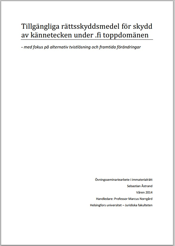 övningsseminariearbete_immaterialrätt_2014