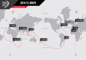 The Volvo Ocean Race will start on October 4, 2014, day of the first In-Port Race in Alicante, Spain, and finish with one last In-Port Race on June 27, 2015 in Gothenburg, the Swedish home of Volvo.  The 38,739-nautical mile route will also include stopovers in Cape Town (South Africa), Abu Dhabi (UAE), Sanya (China), Auckland (New Zealand), Itaja' (Brazil), Newport, Rhode Island (USA), Lisbon (Portugal) and Lorient (France). A 24-hour pit-stop in The Hague is scheduled between France and Sweden.